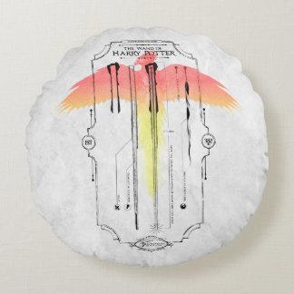 Coussins Ronds Baguette magique Infographic du charme | Harry de