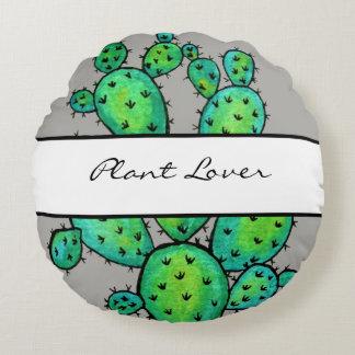 Coussins Ronds Cactus épineux d'aquarelle magnifique