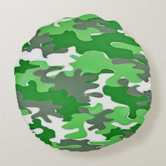 Coussins Ronds Camoflauge vert