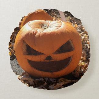 Coussins Ronds Carreau de citrouille de Halloween