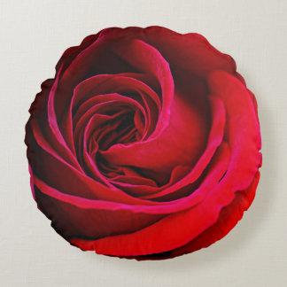 Coussins Ronds Carreau rond de rose rouge