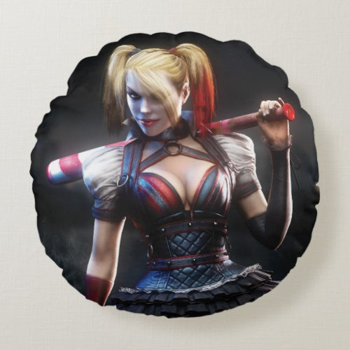 Coussin rond Harley Quinn