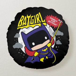 Coussins Ronds Chibi Batgirl prêt pour l'action