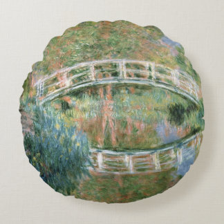Coussins Ronds Claude Monet | le pont japonais, Giverny