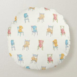 Coussins Ronds Concerne le motif de chaises