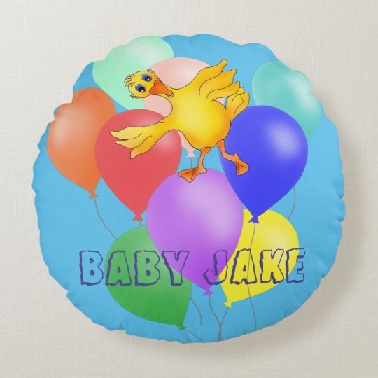 Coussins Ronds Danse mignonne de ballon par Happy Juul Company