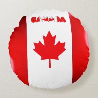 Coussins Ronds Drapeau canadien