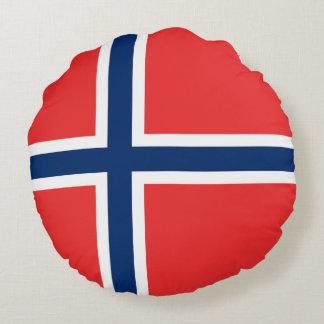 Coussins Ronds Drapeau de la Norvège