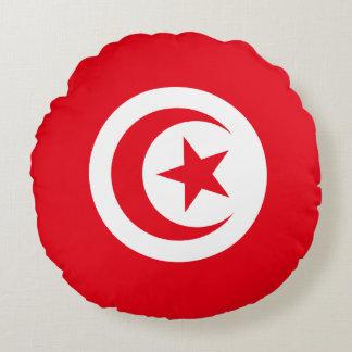 Coussins Ronds Drapeau de la Tunisie