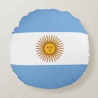 Coussins Ronds Drapeau de l'Argentine