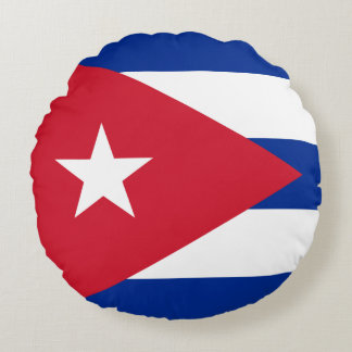 Coussins Ronds Drapeau du Cuba