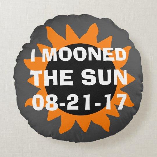 Coussins Ronds Éclipse solaire totale j'ai musardé le Sun