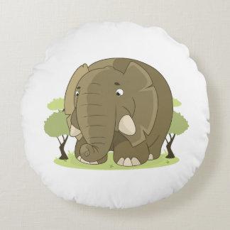 Coussins Ronds Éléphant mignon