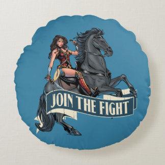 Coussins Ronds Femme de merveille sur l'art comique de cheval