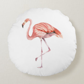 Coussins Ronds Flamant rose