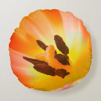 Coussins Ronds Flora orange