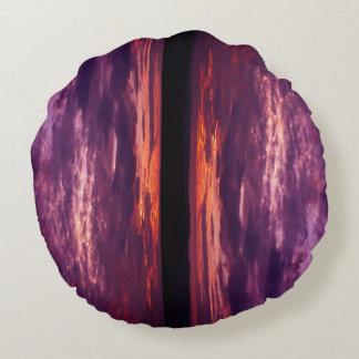 Coussins Ronds Globe des couchers du soleil