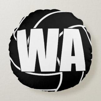 Coussins Ronds Joueurs de net-ball - attaque d'aile - WA