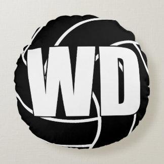 Coussins Ronds Joueurs de net-ball - la défense d'aile - WD