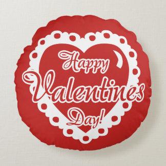 Coussins Ronds Jour de Valentines rouge - JE T'AIME