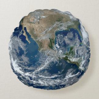 Coussins Ronds La terre de planète de l'espace