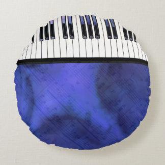 Coussins Ronds Le piano verrouille la torsion moderne de musique