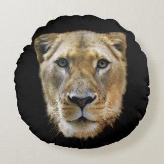 Coussins Ronds Lionne d'Afrique