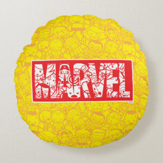Coussins Ronds Logo de merveille de Kawaii avec le motif de