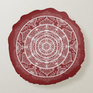 Coussins Ronds Mandala de canneberge