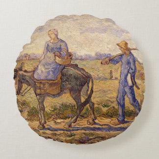 Coussins Ronds Matin de Vincent van Gogh |, sortant pour
