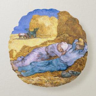 Coussins Ronds Midi de Vincent van Gogh |, la sièste, après