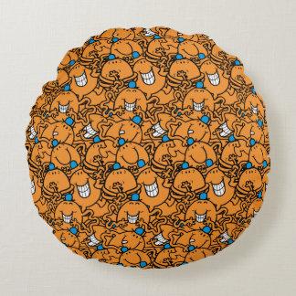 Coussins Ronds Motif orange de chatouillement de M. Tickle |