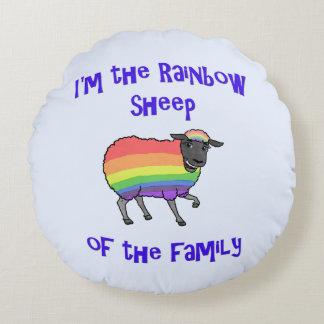 Coussins Ronds Moutons d'arc-en-ciel de la famille