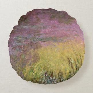 Coussins Ronds Nénuphars de Claude Monet | au coucher du soleil