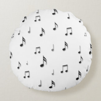 Coussins Ronds Notes musicales
