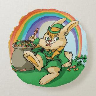 Coussins Ronds Petit lapin drôle de Patrick de saint