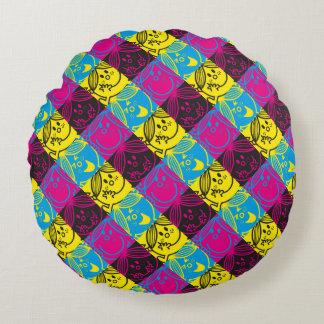 Coussins Ronds Petit motif au néon de Mlle Sunshine |