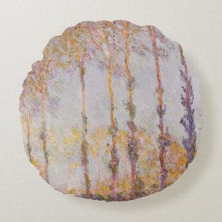 Coussins Ronds Peupliers de Claude Monet | sur les banques de