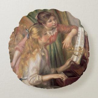 Coussins Ronds Pierre jeunes filles de Renoir un | au piano
