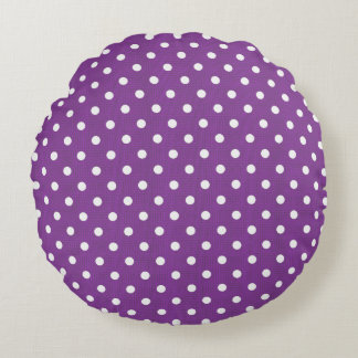 Coussins Ronds Polka-Dots_Grape_White-Round_Home_Accents