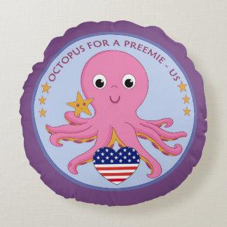 Coussins Ronds Poulpe rond de carreau de logo pour un Preemie USA