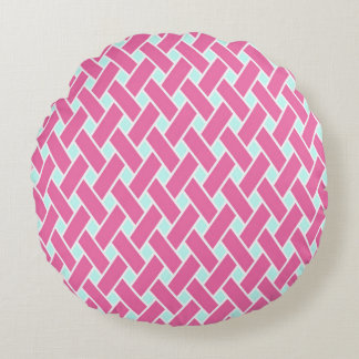 Coussins Ronds Princesse Pink Pattern