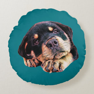 Coussins Ronds Race allemande canine de chien de Rott d'amour de