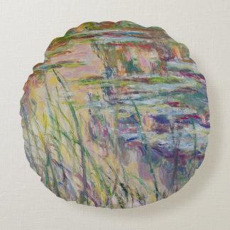 Coussins Ronds Réflexions de Claude Monet | sur l'eau, 1917