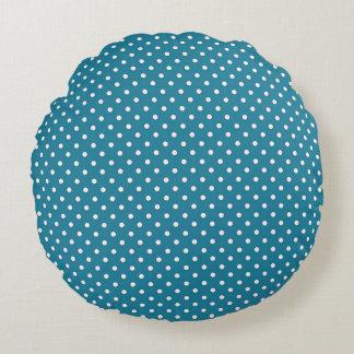 Coussins Ronds Stylish_Vintage_Polka-Dots_Cottage_Blue