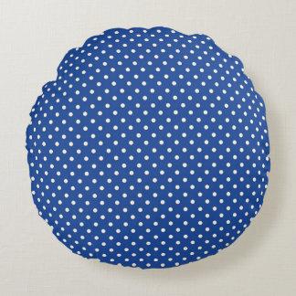 Coussins Ronds Stylish_Vintage_Polka-Dots_Navy_Blue