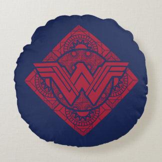 Coussins Ronds Symbole amazonien de femme de merveille