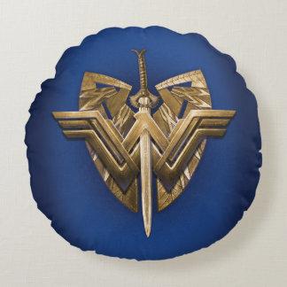 Coussins Ronds Symbole de femme de merveille avec l'épée de la