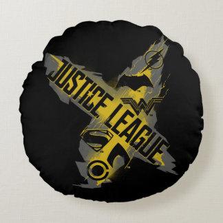 Coussins Ronds Symboles de ligue et d'équipe de justice de la