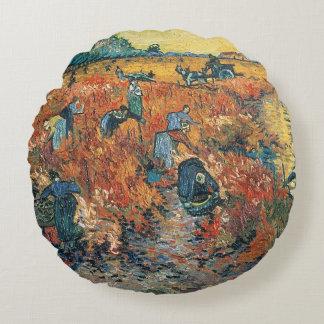 Coussins Ronds Vignobles de rouge de Vincent van Gogh | chez